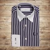 Рубашка полосатая сине-белая