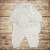 Белый набор для новорожденного с кружевом