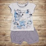 Костюм  для новорождённого из футболки и шортиков