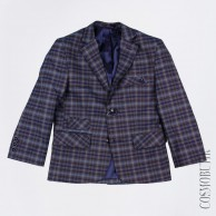 Пиджак для мальчика приталенного силуэта, застёгивается на пуговицы