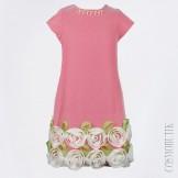 Эксклюзивное платье с цветами по низу