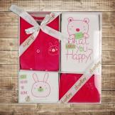 Набор для новорожденного розово-белый