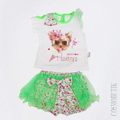 Хлопковый костюм для девочки