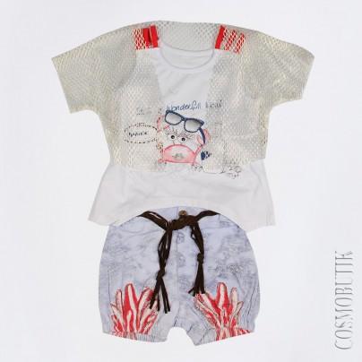 Хлопковый костюм для девочки от компании Bebecix