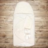 Белый набор для новорожденного с конвертом