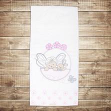Детское одеяло с розовыми цветами