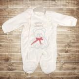 Велюровый комбинезон  для новорожденного от компании Cheery baby
