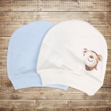 Шапочка для новорожденного 2 шт