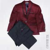 Костюм для мальчика с бордовым пиджаком и классическими брюками