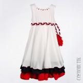 Платье белое Olix-5658