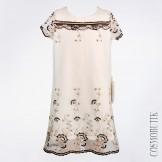 Платье с коротким рукавом и вышивкой