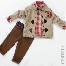 Теплый костюм для мальчика с кардиганом