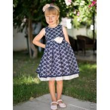 Вечернее синее платье для девочки