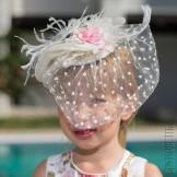 Декоративная шляпка с вуалью