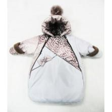 Конверт для новорожденного с мехом песца