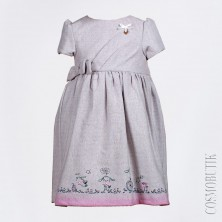 Платье теплое с коротким рукавом Lome
