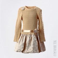 Платье для девочки из шерсти