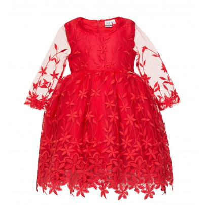 Платье для девочки красного цвета
