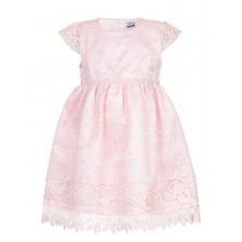 Розовое платье с ободком