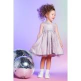 Нарядное сиреневое платье с вышивкой