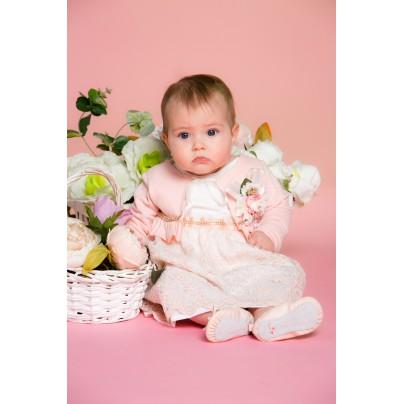 Нарядное розовое платье