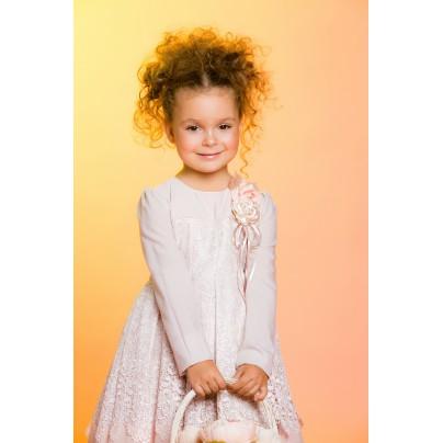 Детское нарядное платье с съемной брошью