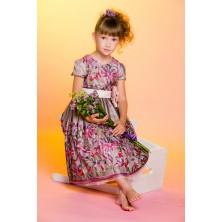 Платье c объемной вышивкой и ободком