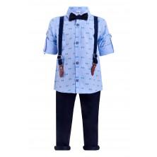 Костюм с рубашкой и имитацией подтяжек