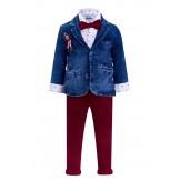 Костюм с джинсовым пиджаком